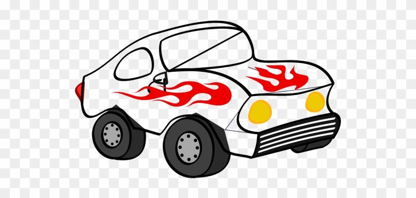 Black And White Fun Car Clipart - Hotwheels Car Clip Art #100556