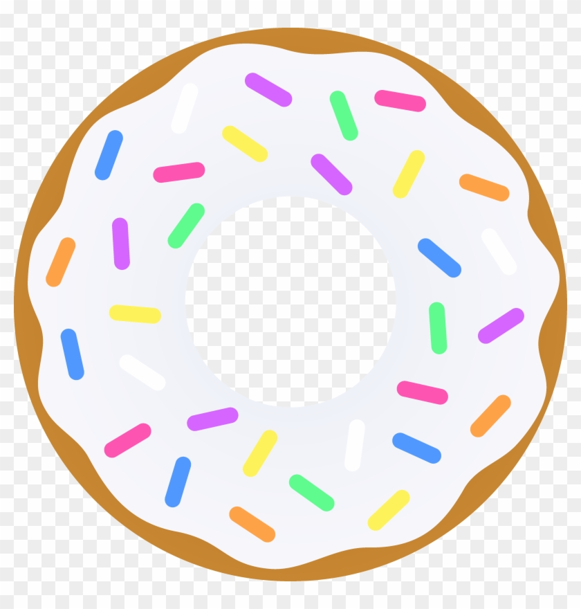 Vanilla Donut With Sprinkles - Donut Clipart #100656