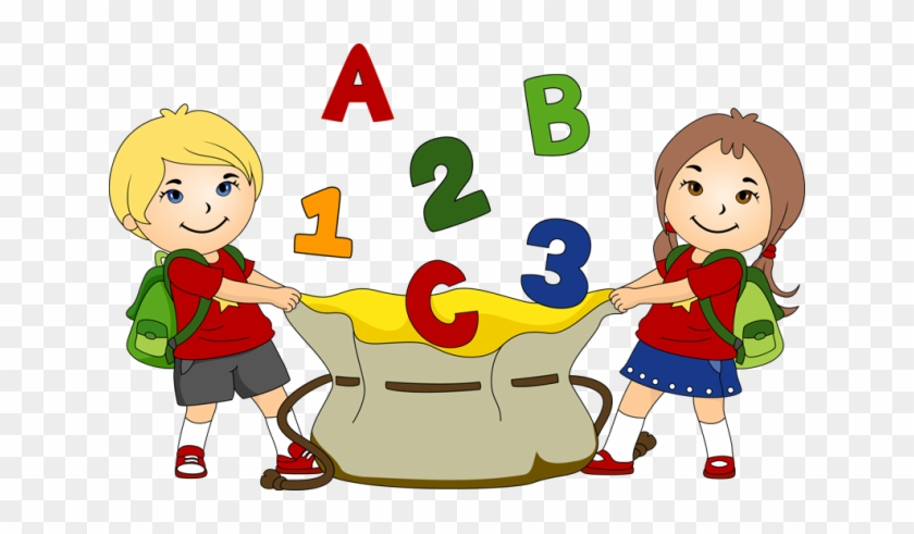 Great Clip Art For Back To School - Preschool Reading And Math Workbook #100692