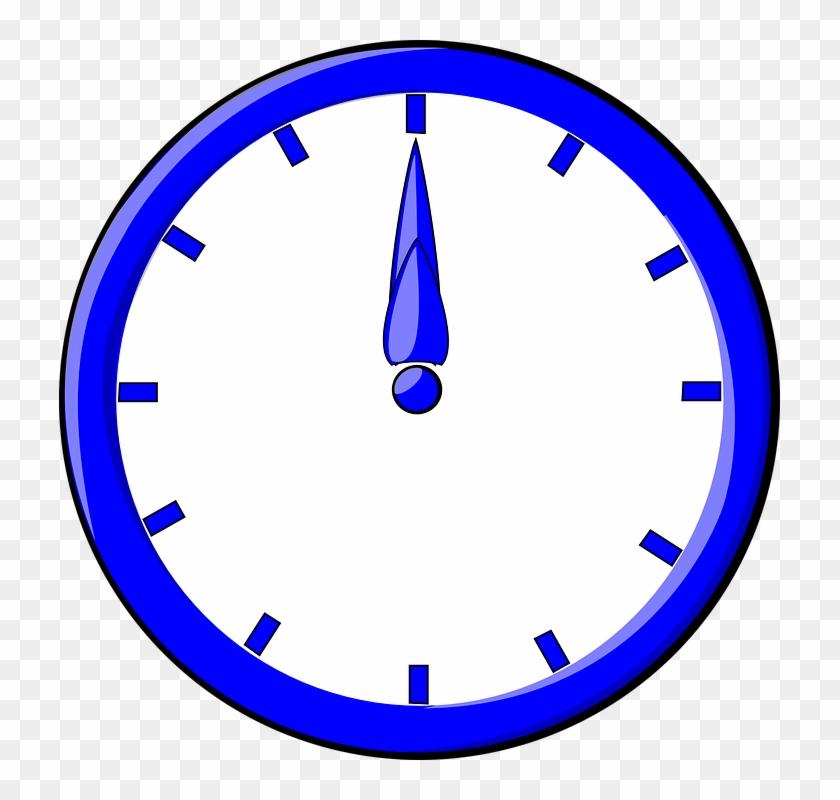 Sign, Five, Signs, Symbols, Time, Clocks, Clock, - Blue Clock Clipart #100715