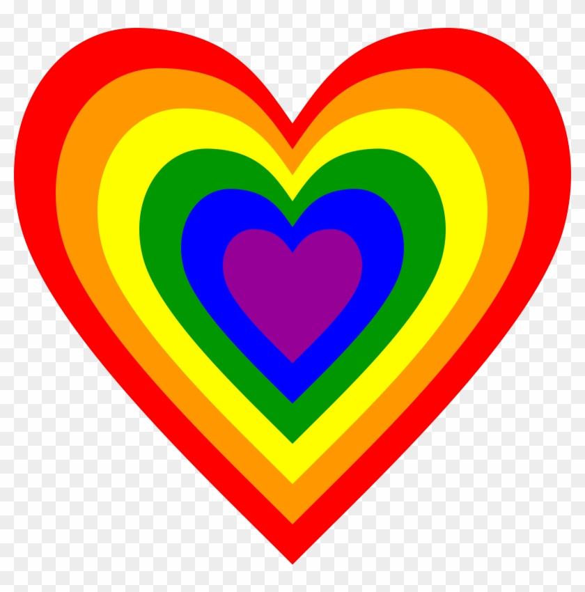 Big Image - Rainbow Heart #100778