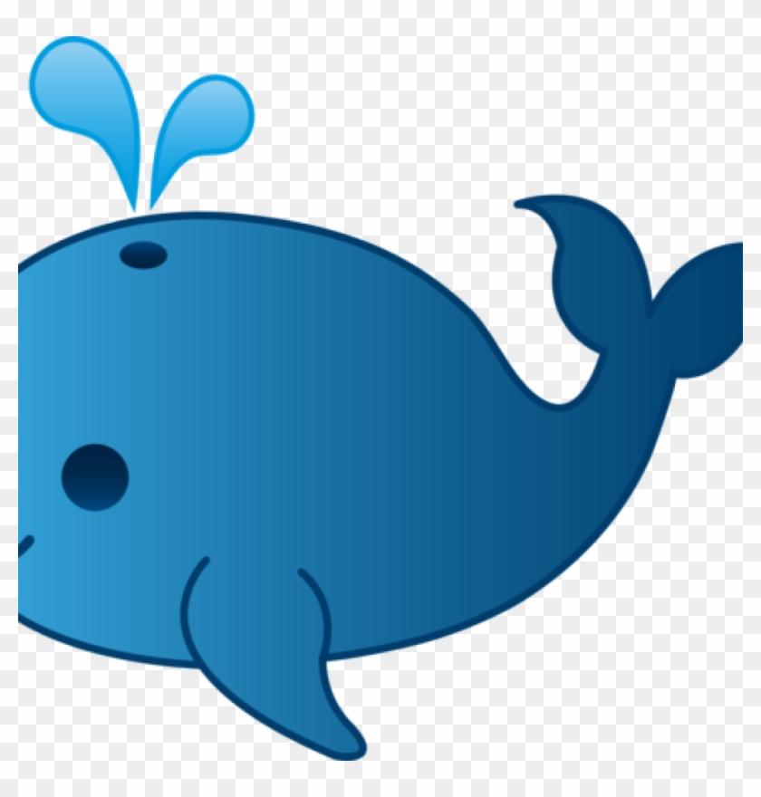 Blue Whale Clipart Little Blue Whale Clip Art Free - Whale Cartoon #100810