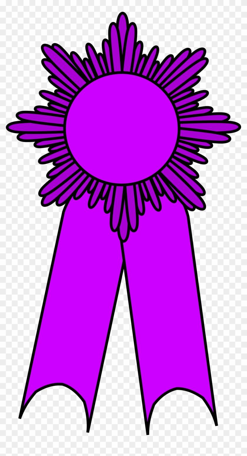 Prize Ribbon Purple - Medal Ribbon Clipart Award #100846