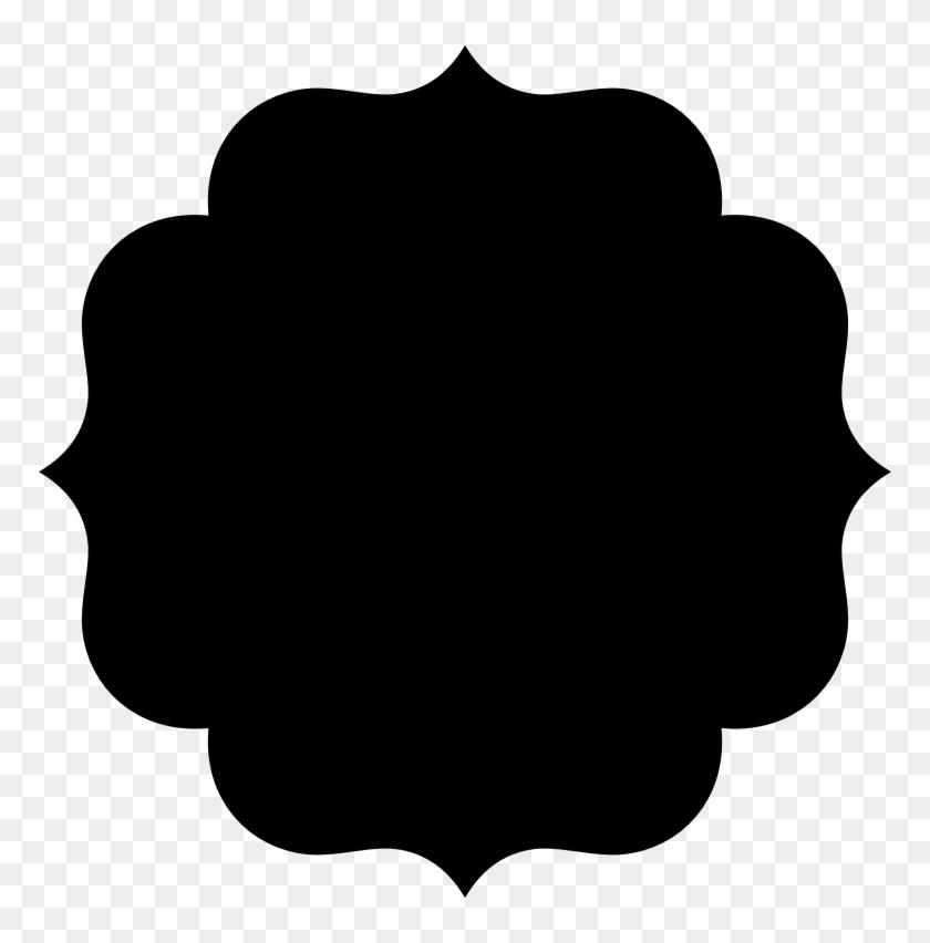 Clipart Fancy Shape - 5 Petal Flower Silhouette #100888