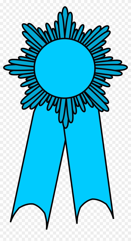 Prize Ribbon Light Blue - Sunflower Pot Clip Art #100898