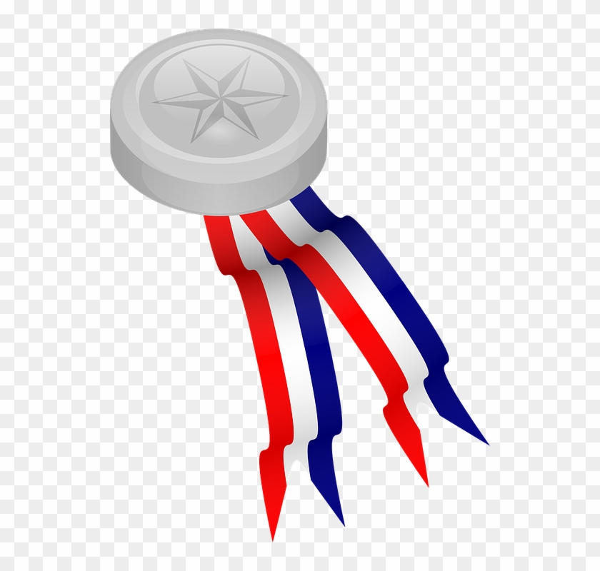 Silver, Prize, Winner, Medal, Olympic - Medal Clip Art #100921