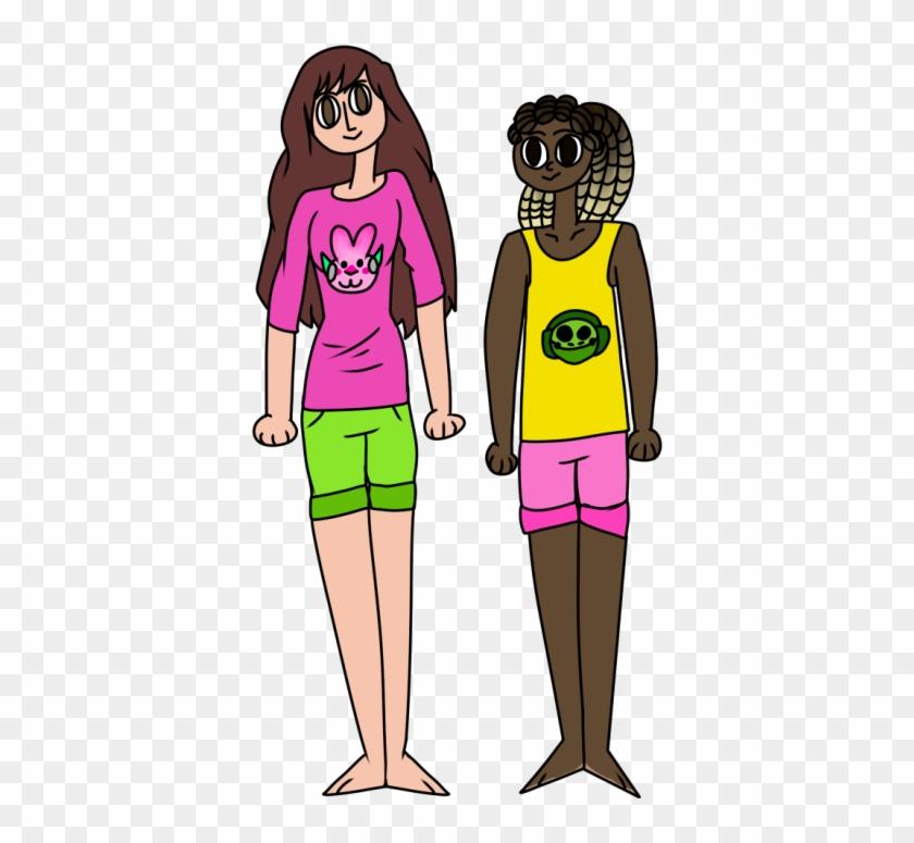 Girl Friends Clipart - Cartoon #100933