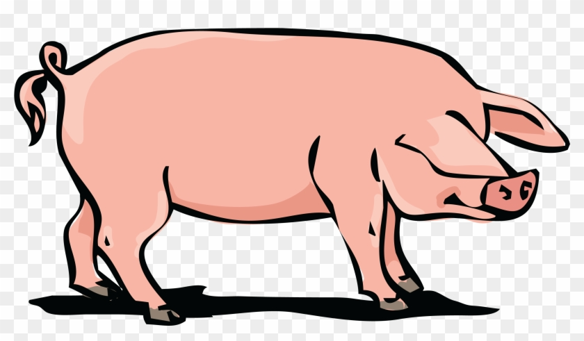 Free Clipart Of A Hog - Domestic Pig #100982