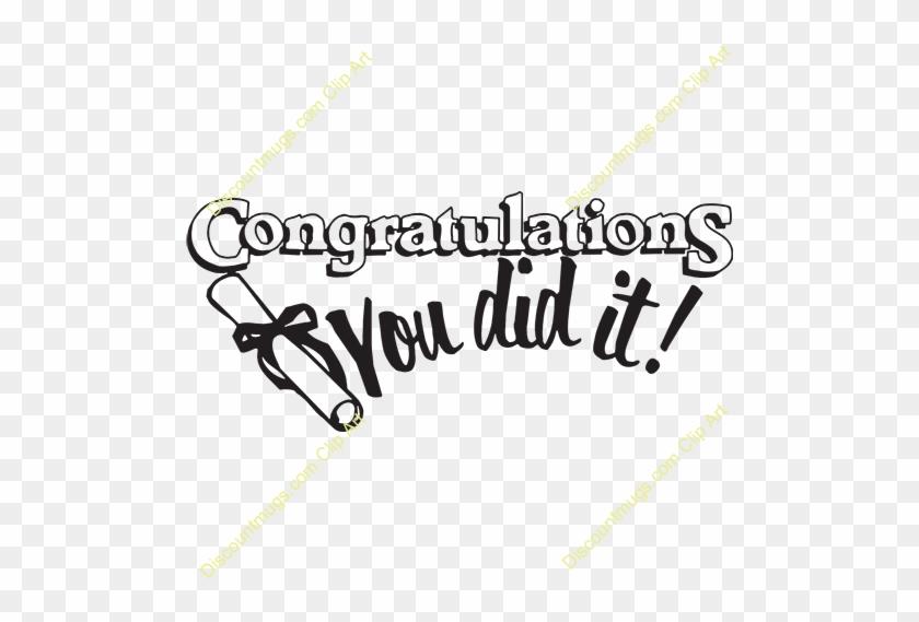 Congratulation Clipart - Congratulations You Did It