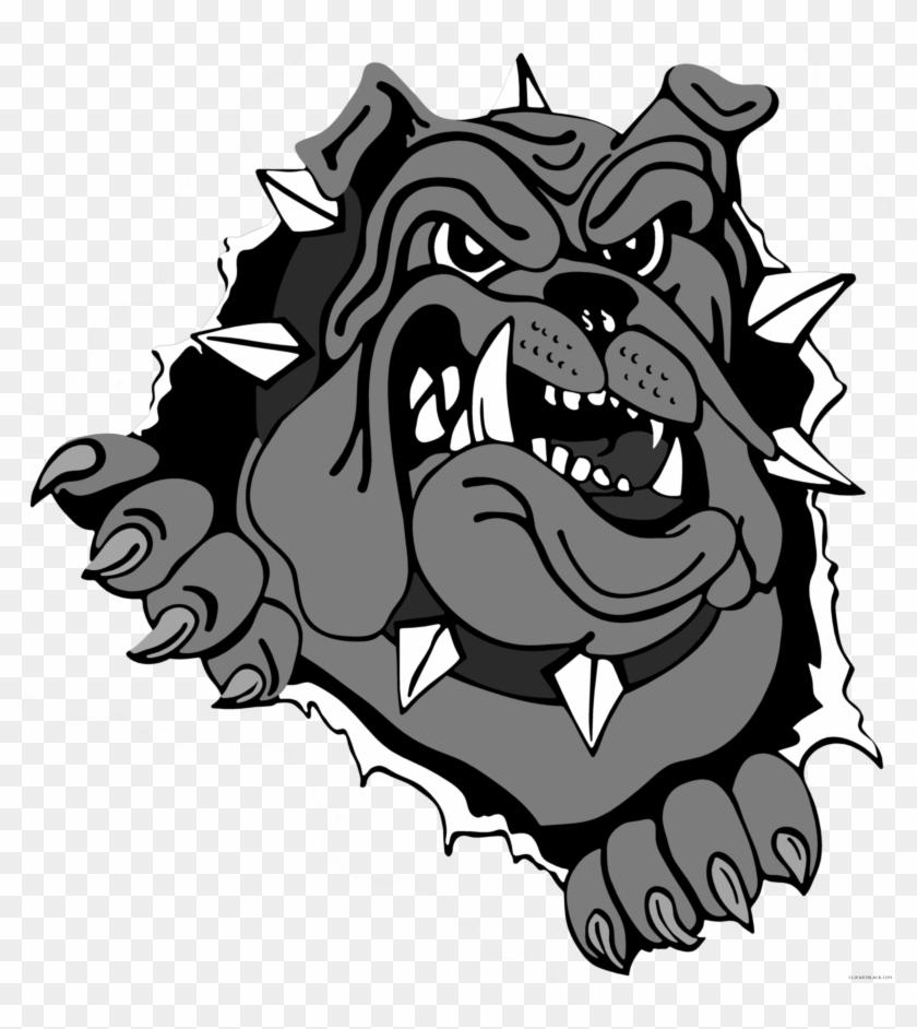 Bulldog Head Animal Free Black White Clipart Images - Bulldog Logo Png #101078
