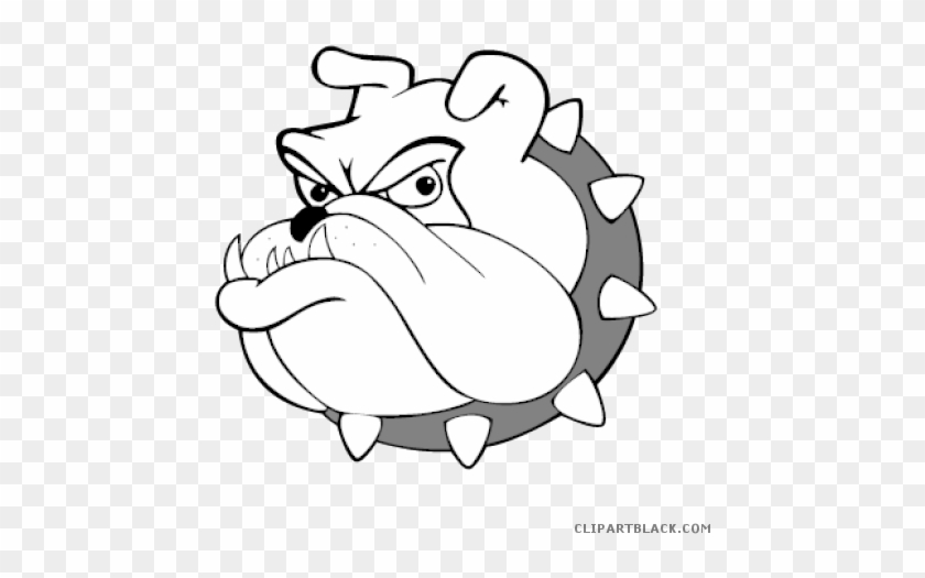 Bulldog Logo Animal Free Black White Clipart Images - Franklin Elementary School Yuba City #101083