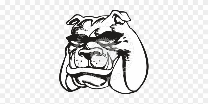 Bulldog With Sunglasses Clipart #101087