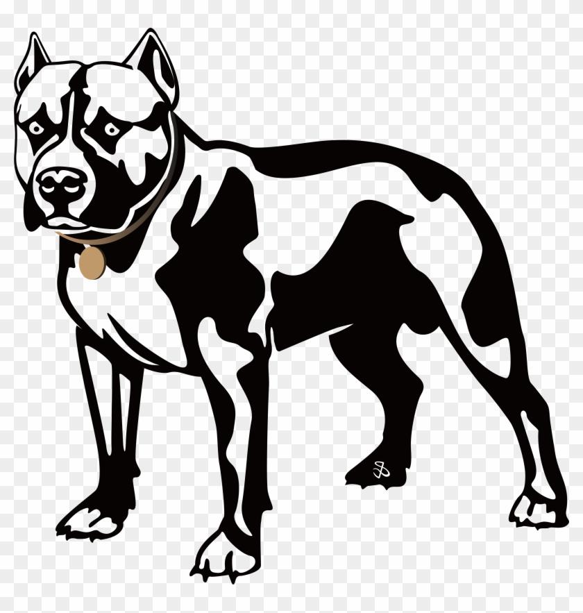 American Pit Bull Terrier Bulldog Boxer Clip Art - Dogs Black And White Clipart #101116