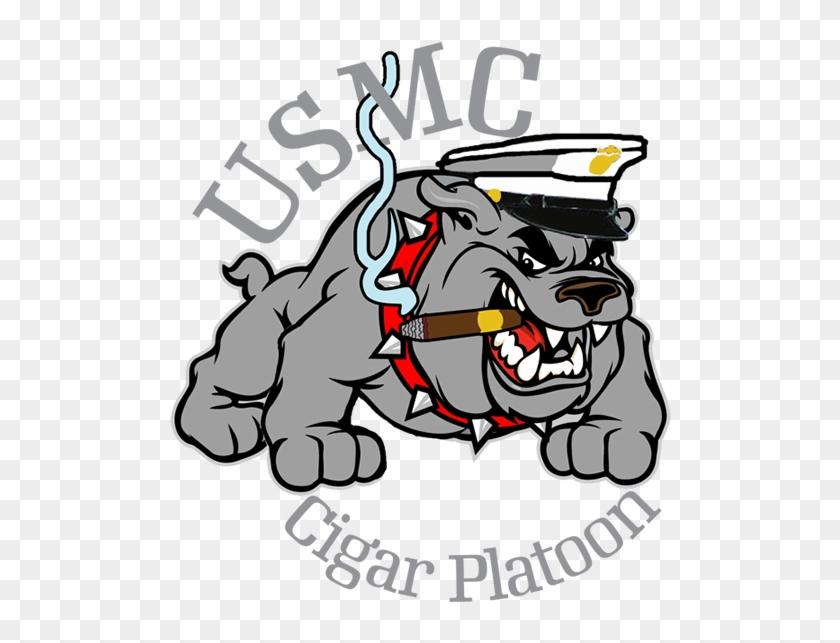 Usmc Bulldog Cigar Shirt - Cartoon Bulldog Usmc #101121