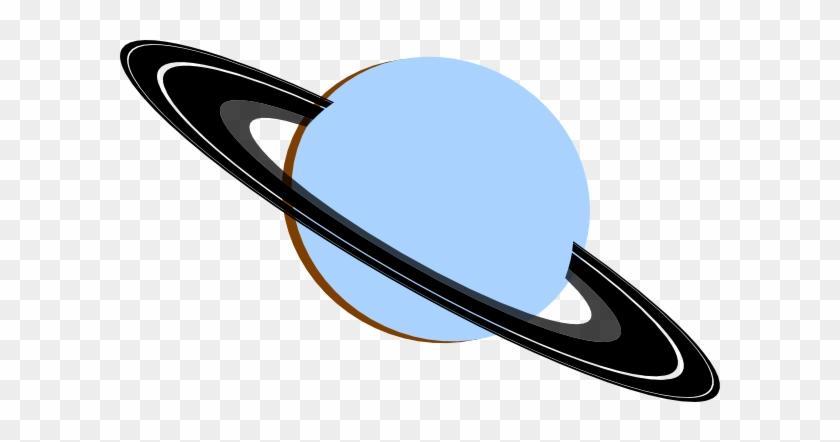 Saturn Blue Gray Black Brown Clip Art - Blue Saturn Clipart #101146