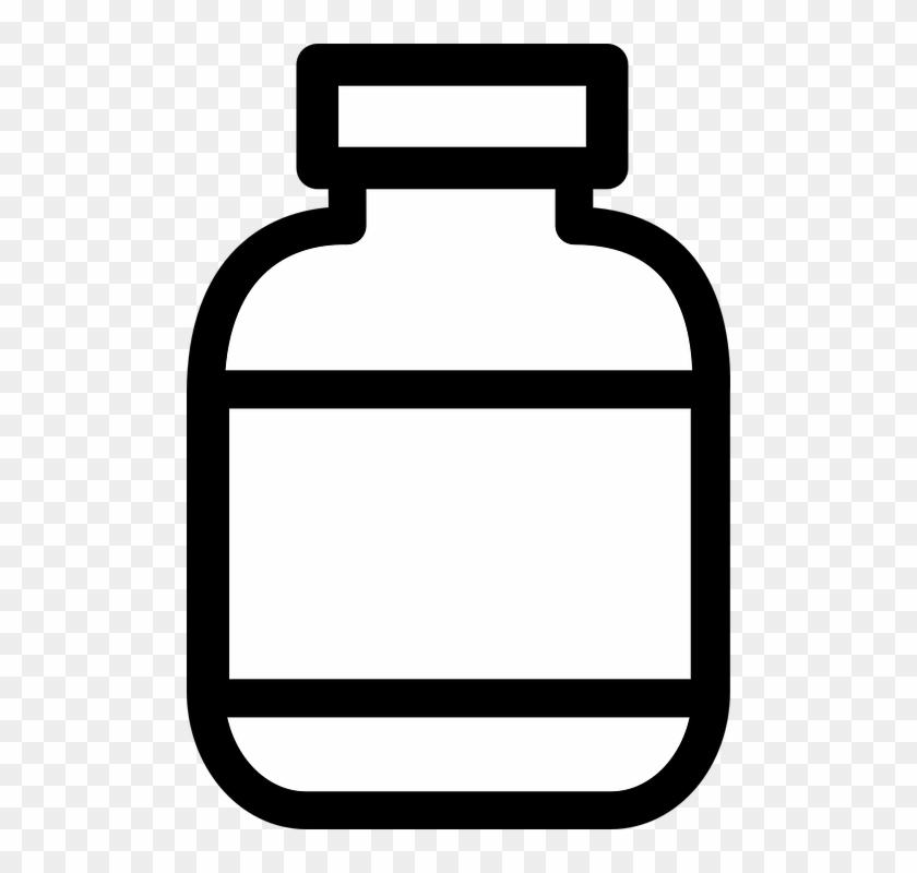 Medicine Bottle Clipart - Medicine Bottle Clipart #101176