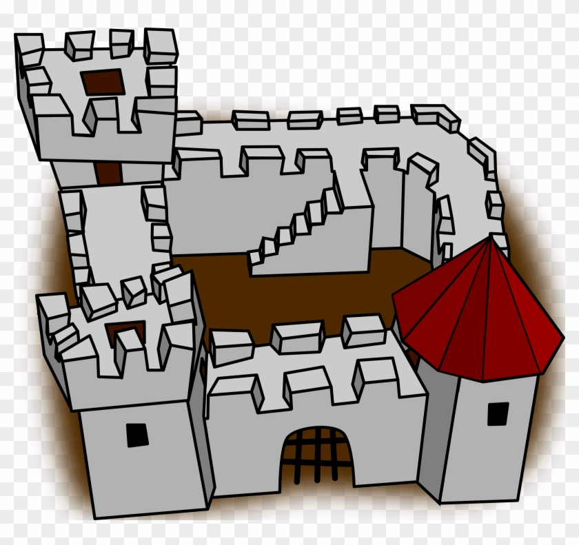 Fortress - Clipart - Fort Cartoon #101254