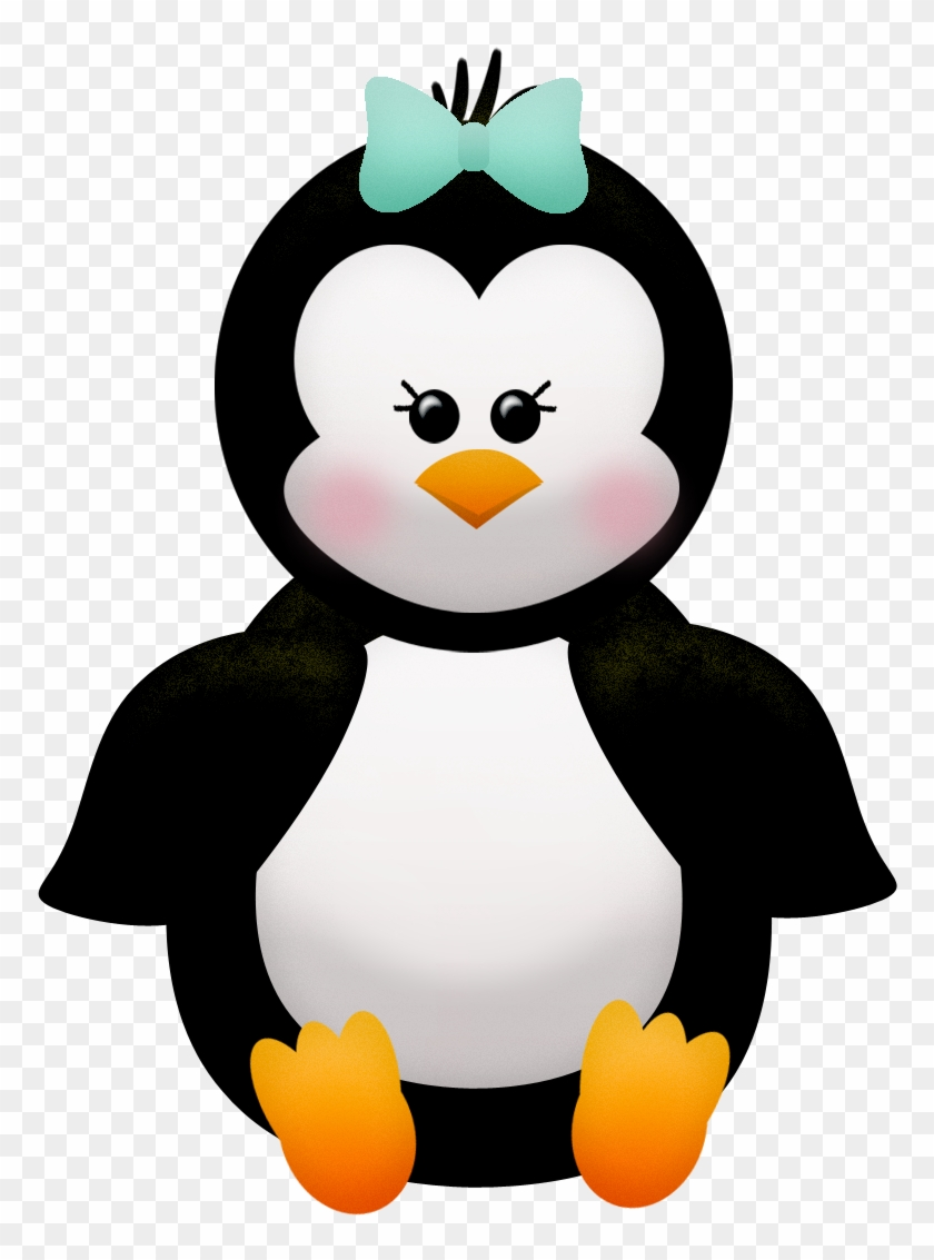 penguins and flowers of the winter clip art imagenes de pinguinos