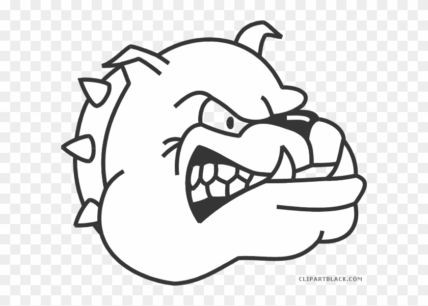 Black And White Bulldog Animal Free Black White Clipart - Thaddeus Stevens College Of Technology #101330