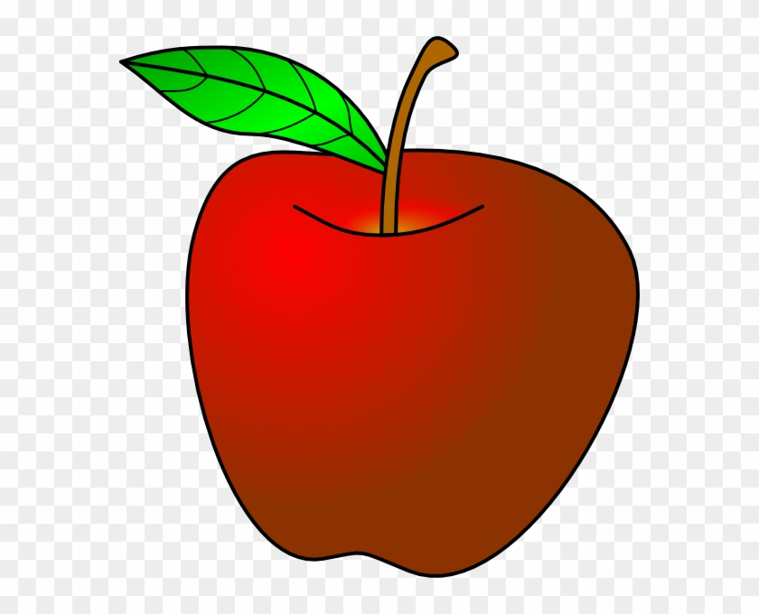 Apple Turned Slightly Clip Art At Clker - Red Apple Template #101440
