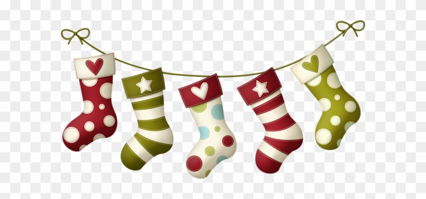 Christmas Stockings 77 Png 600 X 312 - Calcetines De Navidad Png #101457