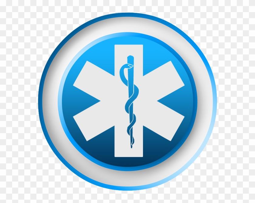 Emergency Medicine Symbol Blue Clipart Image - Ems Star Of Life #101488