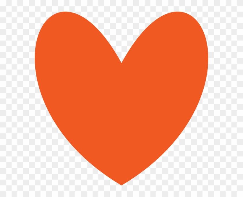 Orange Color Heart Shape #101490