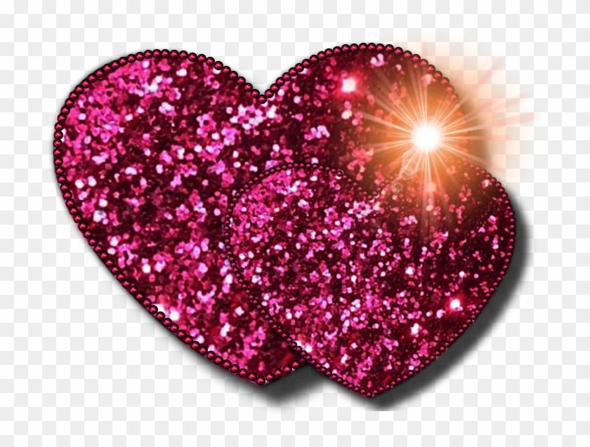 Heart Glitter Clip Art - Pink Glitter Heart Png #101529