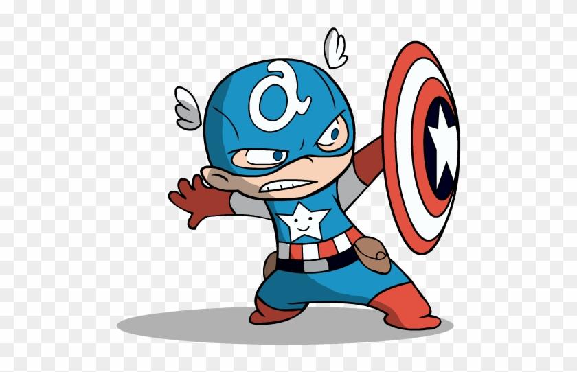 Baby Clipart Captain America - Baby Captain America Cartoon #101665