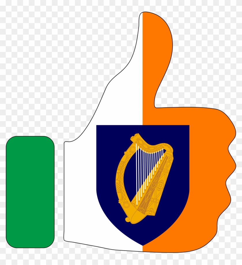 Microsoft Clipart Thumbs Up - Flag: Presidential Flag Of Ireland With Alternate Official #101669