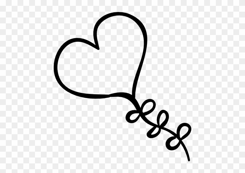 Size - Heart Balloon For Coloring #101677