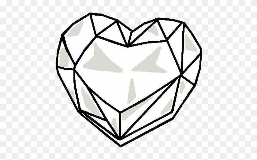 Heart Crystal Base By Sasami87 - Drawing Of A Crystal Heart #101702