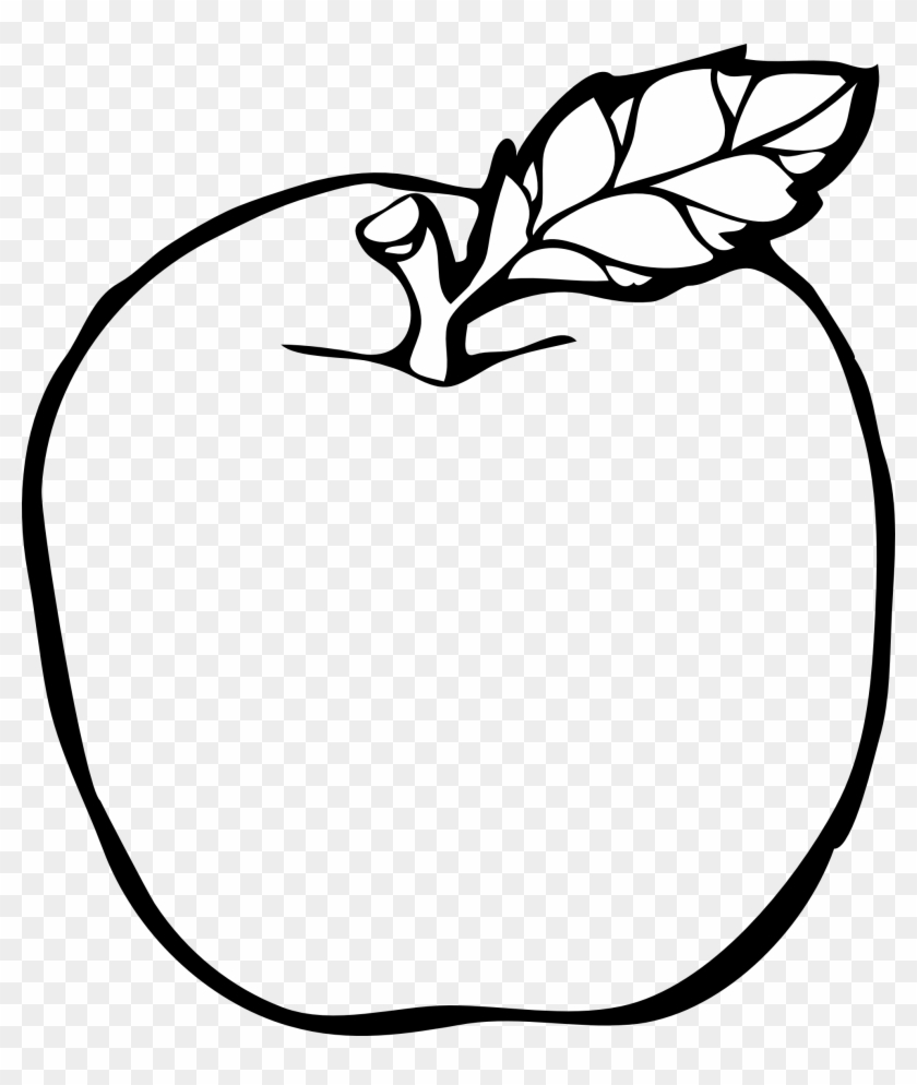 Apple Line Drawing - Apple Black And White #101713