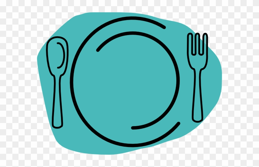 Plate Clipart Turquoise Plate Clip Art At Clker Vector - Lunch Plate Clip Art #101751