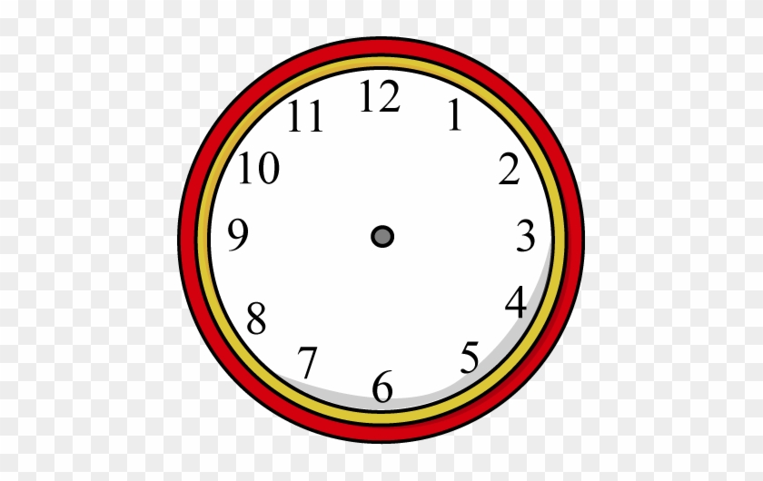 Clock Without Hands - Clock Clipart Black And White #101754
