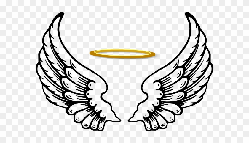 Angel Wings With Halo Drawings - Angel Wings With Halo #101790