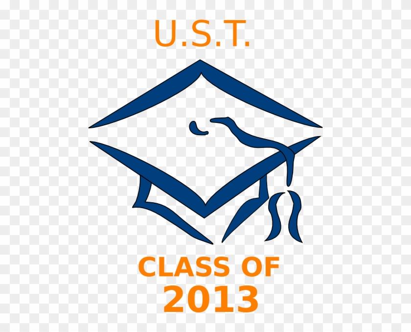 Ust Class Of 2013 Graduation Cap Svg Clip Arts 480 - Transparent Background Graduation Cap Clip Art #101845