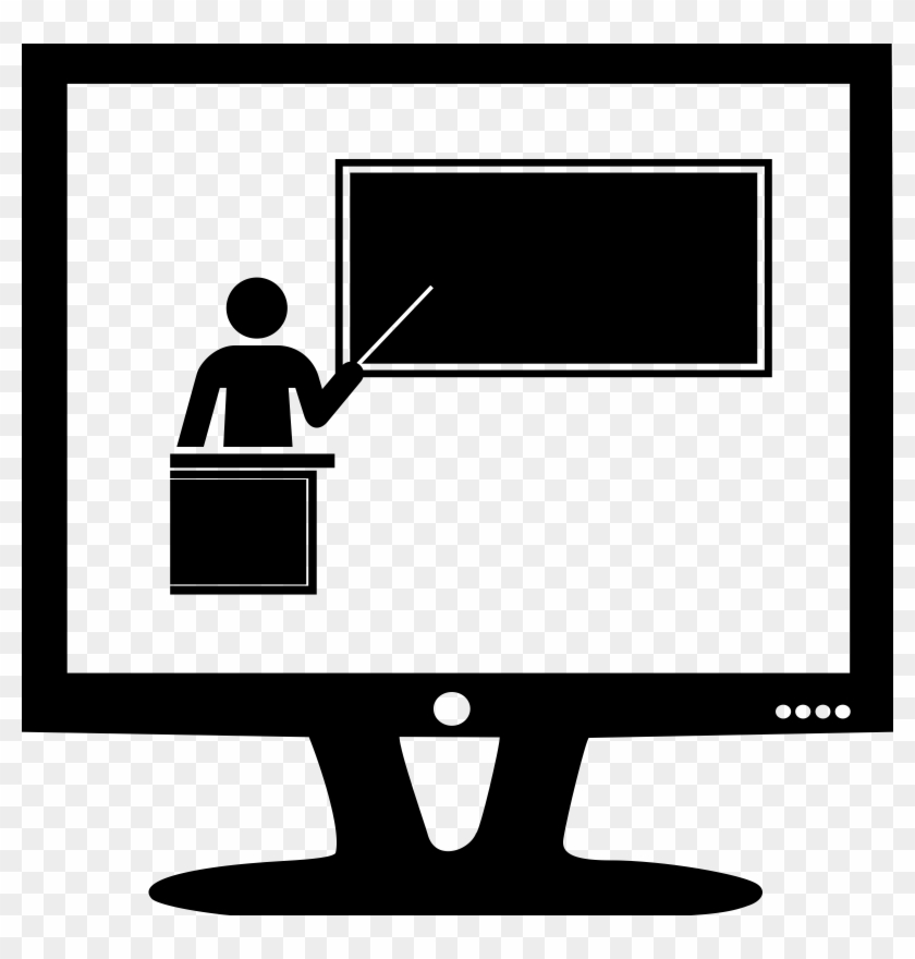 Online Training - Presentation Clipart Black And White #101908