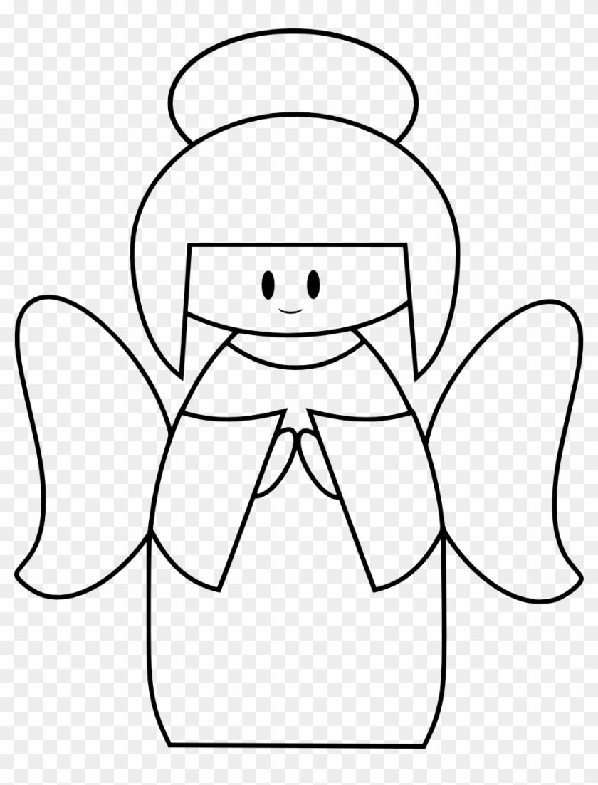 Line Drawing Angel - Cute Angel #101917