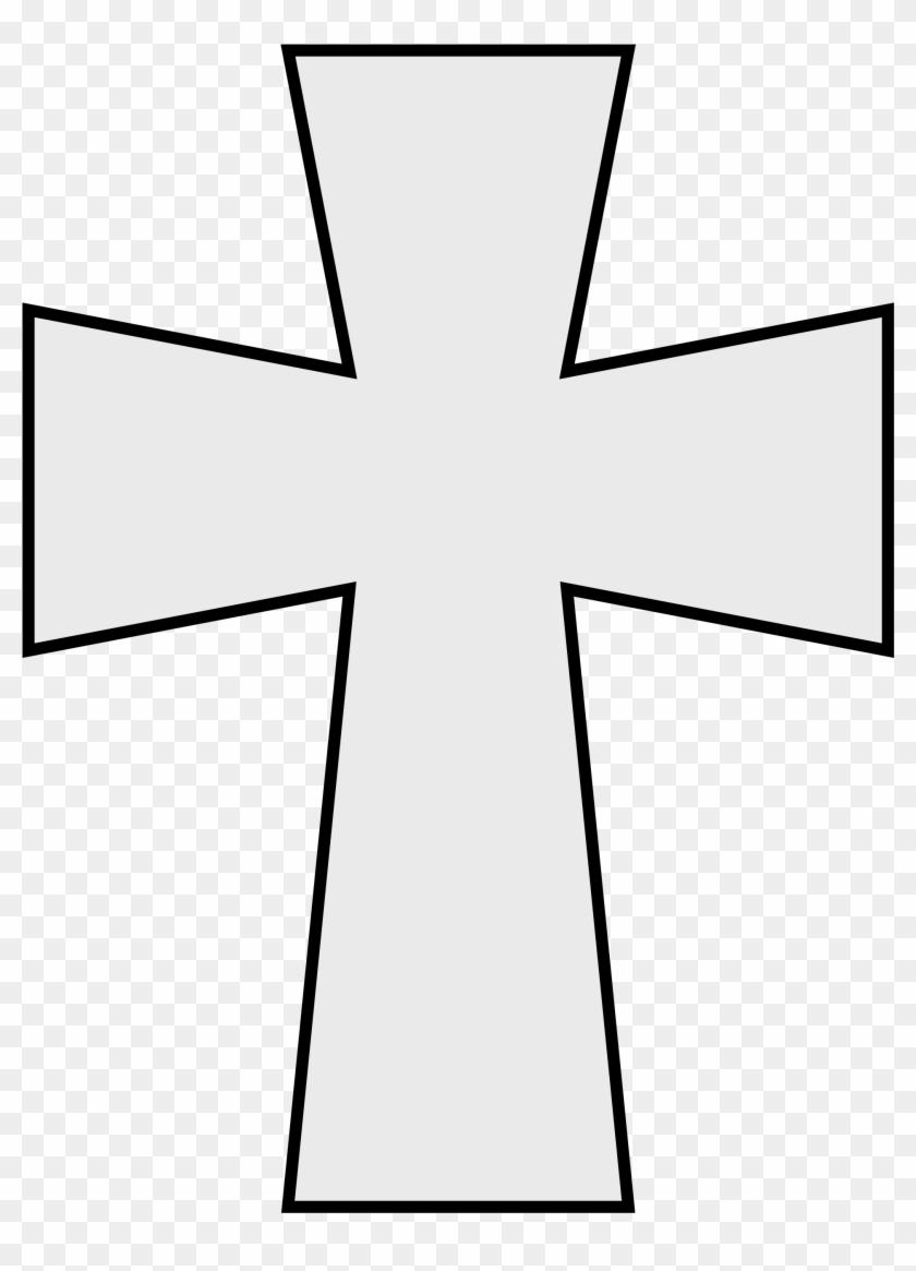 Filecoa Illustration Cross Byzantine - Cross Line Drawing Clip Art #101971