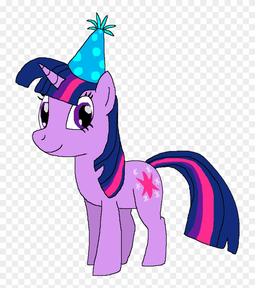 Twilight Sparkle With A Birthday Hat By Kylgrv - My Little Pony Twilight Sparkle Birthday #102085