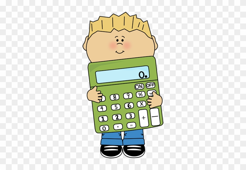 Boy Holding A Giant Calculator Free Clipart - My Cute Graphics Math #102136