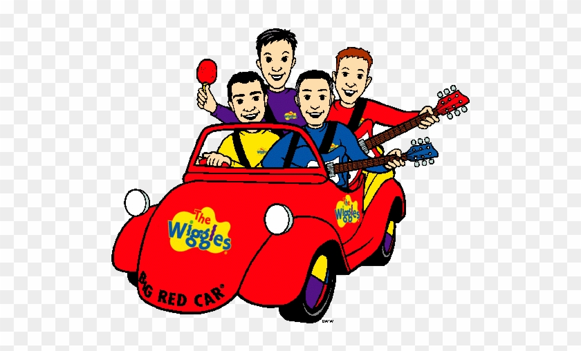 Free The Wiggles Clip Art - Cartoon Wiggles Big Red Car #102179