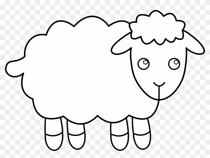 Sheep Clipart - Sheep Black And White #102228