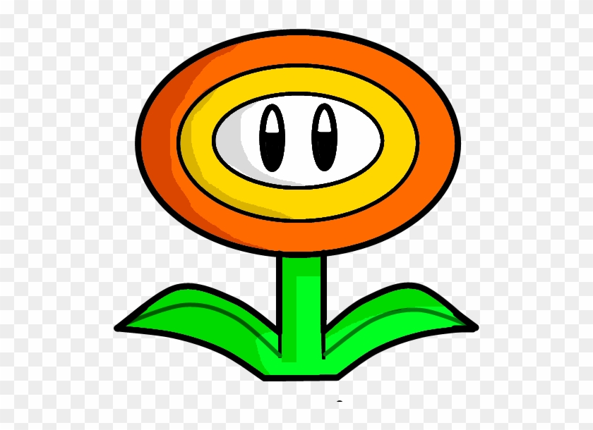 Mario Clipart Supe Power - Mario Fire Flower Drawing #102220