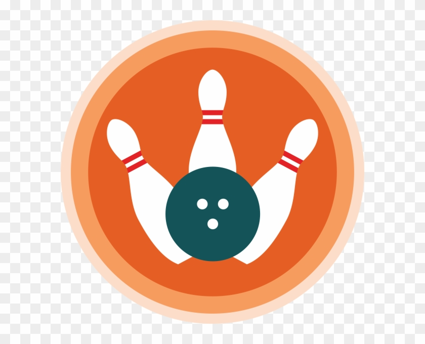 Bowling Ball And Pins Clip Art - Scouting #102324