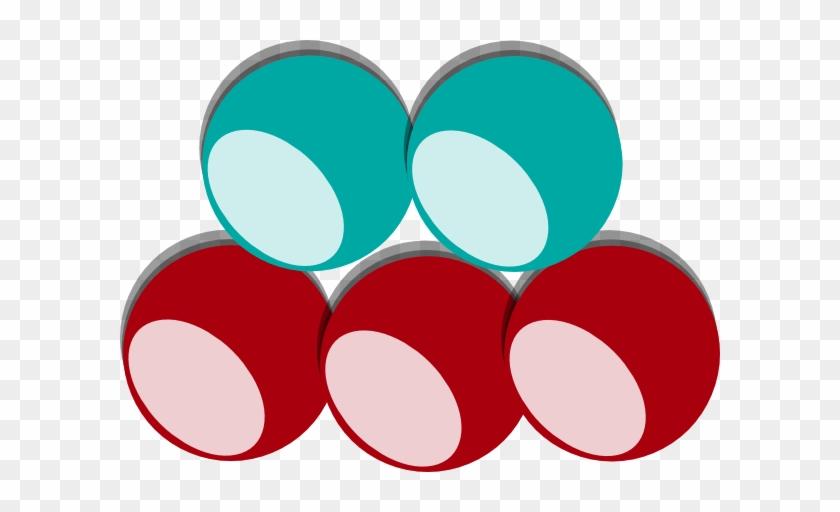 5 Balls 2 Colors Clip Art - 5 Balls Clipart #102342