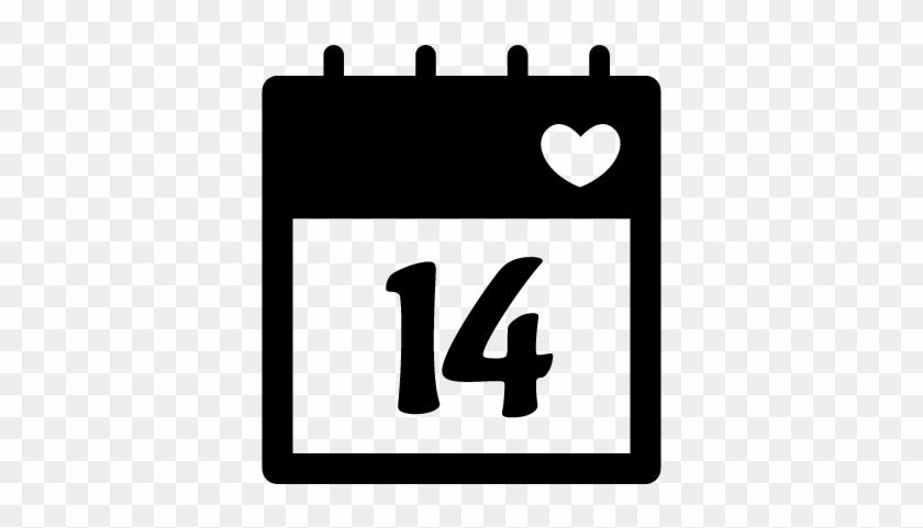 February 14 Calendar Page Vector - Calendar 14 Icon #102372