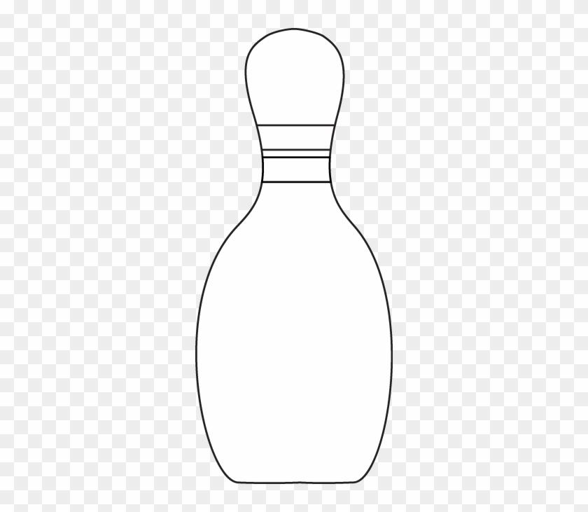 Black & White Bowling Pin - Black And White Bowling #102373