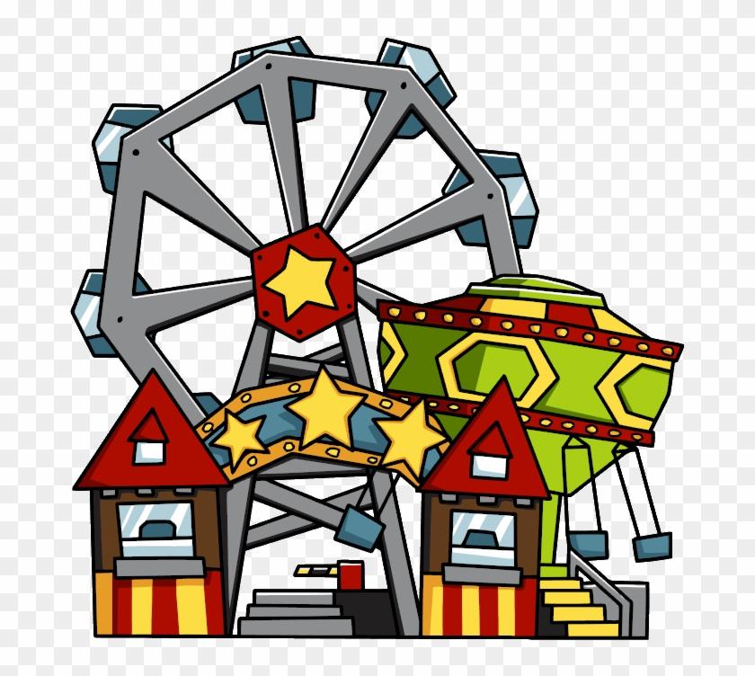 28 Collection Of Amusement Park Clipart Transparent - Cartoon Theme Park Png #102392